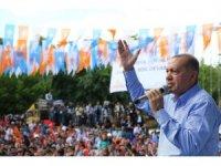 """Cumhurbaşkanı Erdoğan: """"Çıraklarla mıraklarla bu iş olmaz, bu iş yürek işi yürek""""  (1)"""