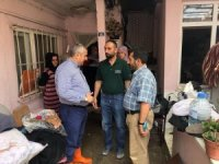 Başkan İsmail Baran, zarar gören evleri inceledi