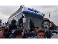 Cumhurbaşkanı Erdoğan'ı Yörük atlı birlikler karşıladı