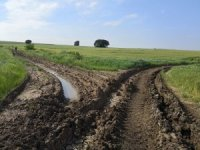 Hasat dönemi öncesinde tarla yolları onarılıyor