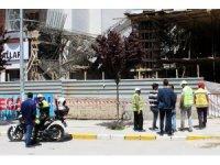 İnşaatın beton kalıpları çöktü: 1 yaralı