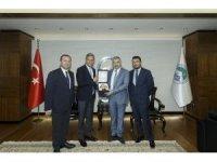 TÜRSAB Başkanı Bağlıkaya, Başkan Çelik'i ziyaret etti