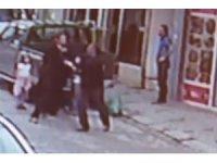 Alkollü şahıs eşinin yanında başörtülü kadına saldırdı