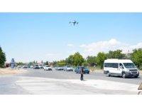 Aksaray'da drone ile trafik uygulaması
