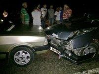 Bartın'da zincirleme trafik kazası: 2 yaralı