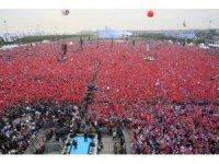 AK Parti İstanbul Mitingine 1 milyon 300 binlik katılım