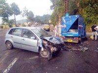 Otomobil ile patpat çarpıştı: 9 yaralı