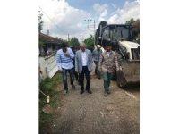 Başkan Dişli, Alandüzü'nde asfalt çalışmalarını inceledi