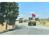 """TSK: """"Daha önce mutabık kalınmış Münbiç Yol Haritası ve Güvenlik Prensipleri doğrultusunda, Fırat Kalkanı Harekat alanı ile Münbiç arasında kalan hatta TSK ve ABD Silahlı Kuvvetleri unsurları tarafından 18 Haziran 2018"""