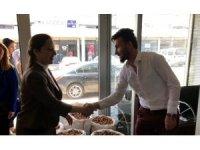 Milletvekili adayı Bakbak'tan fıstıkçılar sitesi esnafına ziyaret