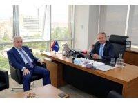 Vali Kamçı'dan İş Bankası ve Karayolları Bölge Müdürlüğüne Ziyaret