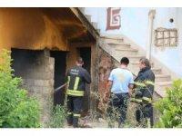 Milas'ta metruk evde yangın