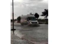 Konya'da sağanak yağış