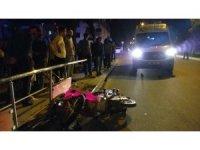 Motosikletle gezinti hastanede bitti 3 kişi yaralandı
