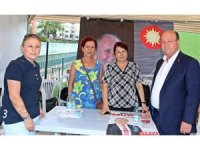 Başkan Özakcan'dan CHP seçim çadırına ziyaret