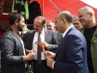 Mesut Akgül'den esnaf ziyareti