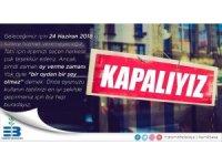 """Edremit Belediyesi sosyal medyadan """"Kapalıyız"""" mesajı yayınladı"""