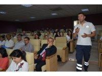 Kırıkkale'de belediye çalışanlarına ilk yardım eğitimi