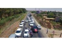 Harran'da kilometrelerce miting konvoyu oluştu