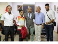 Avrupa ikincisi Fadime'den İl Müdürü Demir'e ziyaret