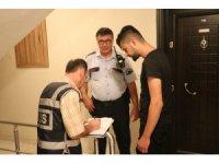 Denizli'de apartlara yönelik polis denetimi