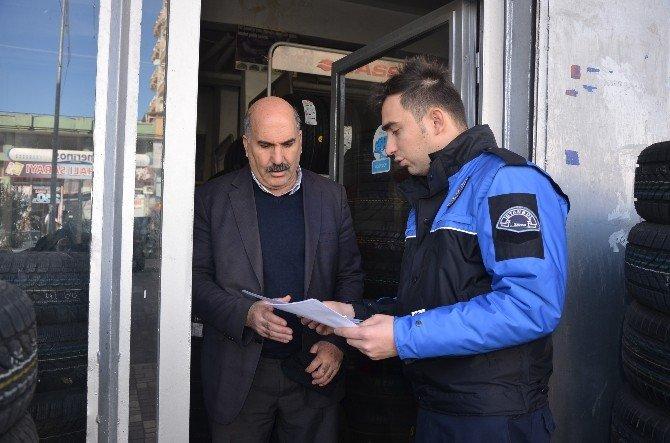Polis Kahta'da Telefon Dolandırıcılığına Karşı Broşür Dağıtarak Uyardı
