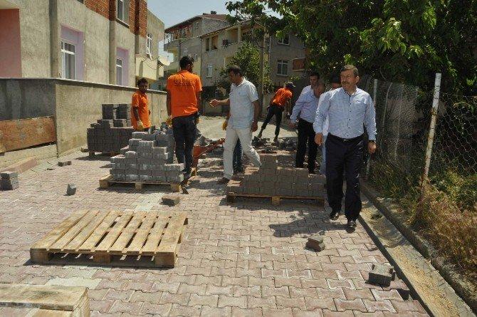 Darıca'da 111 Sokak'ta Asfalt Serimi Yapıldı