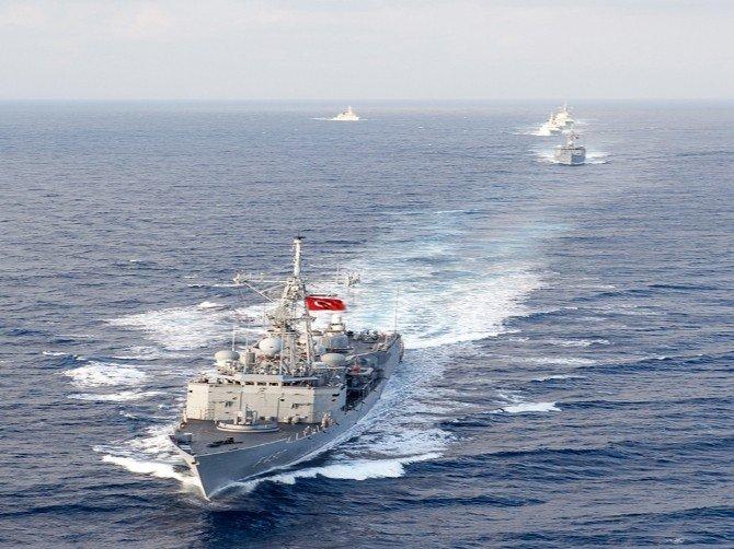 Türk Donanması Ve Nato Unsurları İle Doğu Akdeniz'de Geçiş Eğitimi