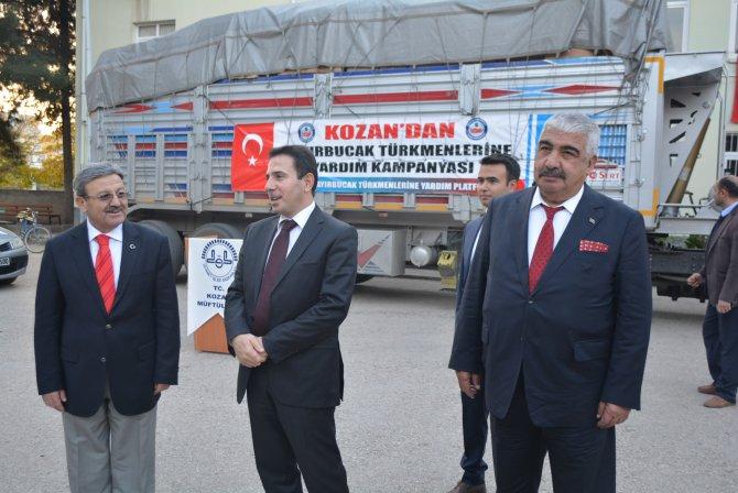 Kozan'dan Bayırbucak Türkmenlerine yardım gönderildi