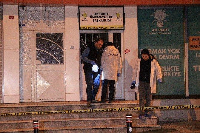 AK Parti Mahalle Temsilciliğine Molotoflu Saldırı