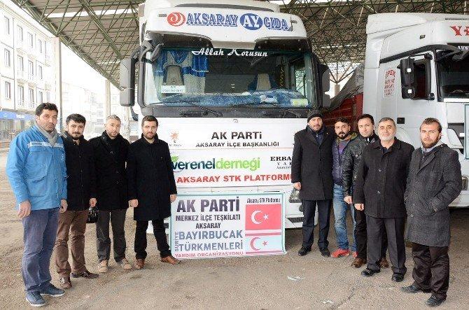 Aksaray'dan Bayır-bucak'taki Türkmenlere Dört Tır Yardım