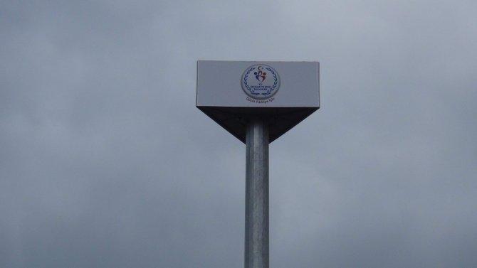 Baz istasyonunu bakanlığın logosuyla gizlemişler
