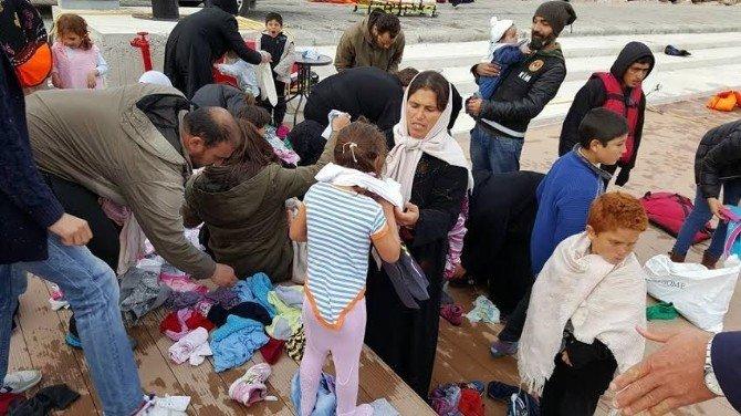 Sığınmacılara Yardım Eli Uzattılar