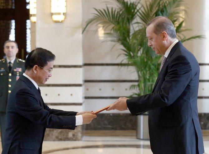 Erdoğan, Vietnam Büyükelçisi Tuan'ı kabul etti
