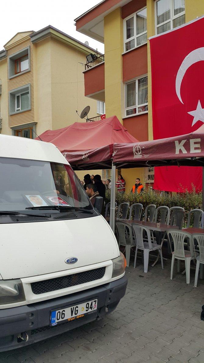 Şehit polis Nohut'un naaşı helallik için Ankara'daki baba evinde