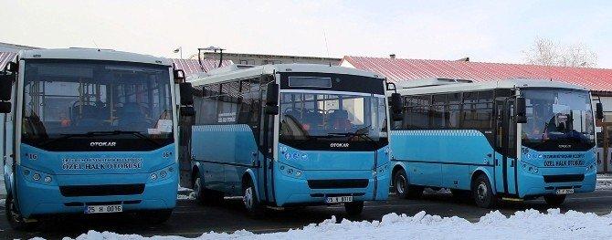 """Erzurum'da, Belediye Ve Halk Otobüsleri """"Turkuaz"""" Oluyor"""