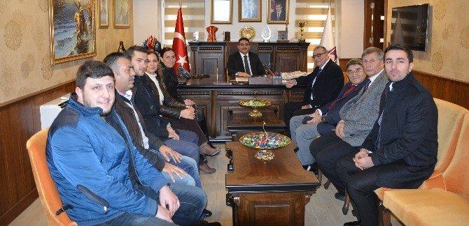 Manisa Gazeteciler Cemiyeti'nden Başkan Ergün Ve Çelik'e Ziyaret