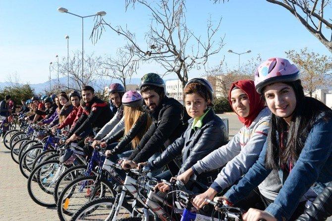 KSÜ'ye Halk Sağlığı Müdürlüğü'nden 50 Bisiklet