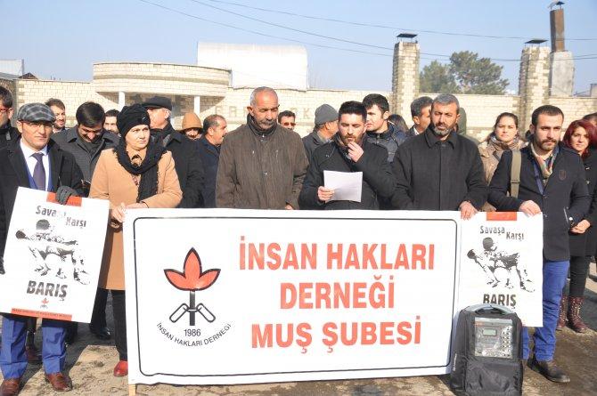 İHD Muş Şubesi: Barış bir insan hakkıdır, barış istiyoruz