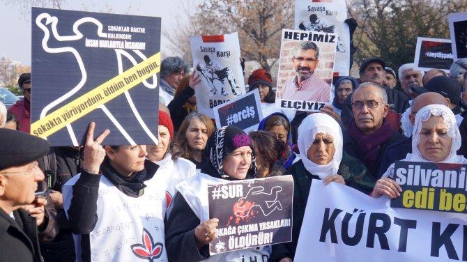 Sokağa çıkma yasakları TBMM girişinde protesto edildi