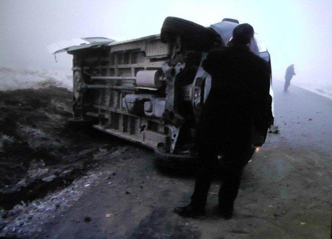 Öğrenci Taşıyan Minibüs Devrildi: 6 Yaralı