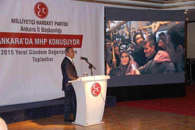 MHP İl Başkanı: Ankara'yı yönetenler rantçı ve fırsatçı imarcılığın önünü açtı