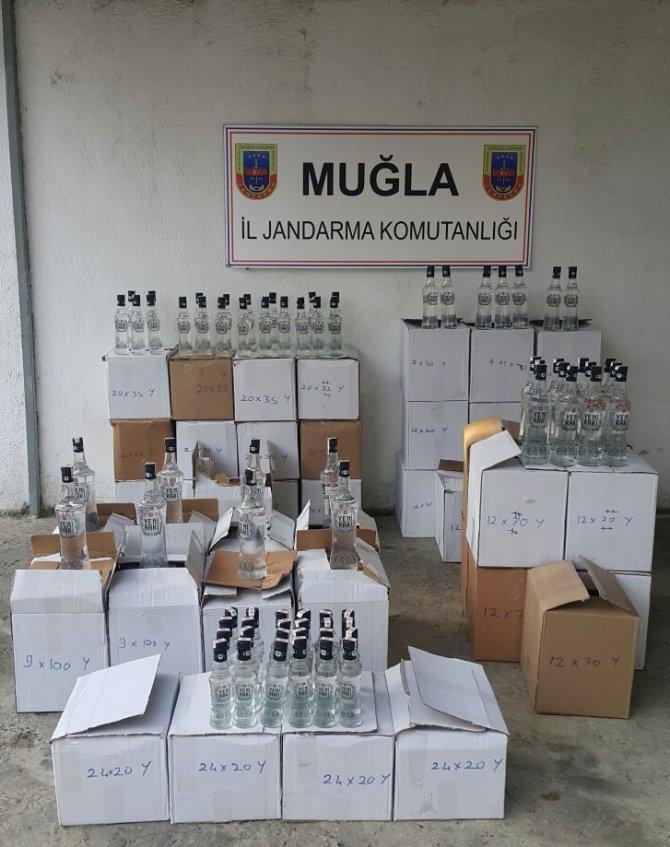 Muğla'da sahte içki operasyonu