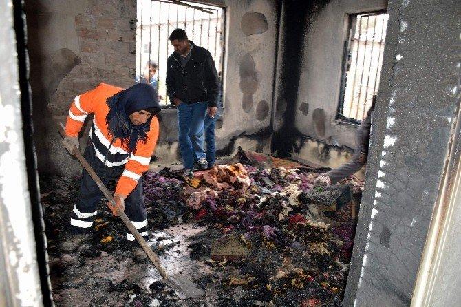 Siverek'te Evde Çıkan Yangın Korkuttu