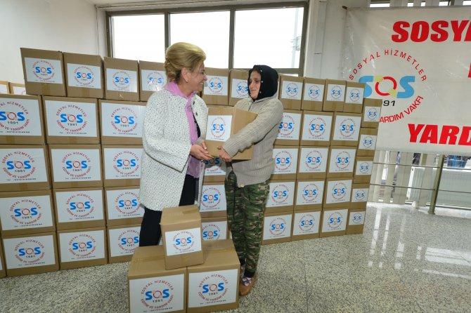SOS, ihtiyaç sahibi 50 aileye gıda ve temizlik maddesi yardımı yaptı