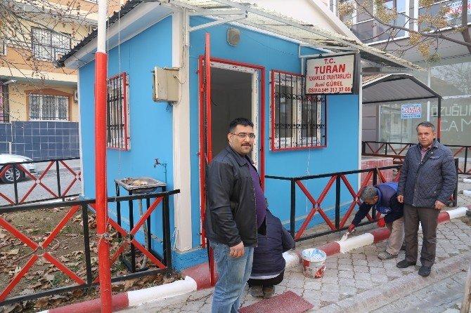 Turan Mahallesi Muhtarlık Binası Yeni Görünümüne Kavuştu