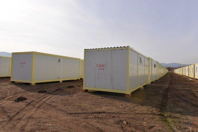 Van'dan Gediz'e Getirilen Deprem Konteynırları Onarıldı