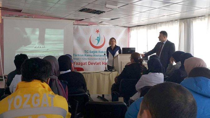 Yozgat'ta acil servis çalışanlarına yönelik eğitim programı düzenlendi
