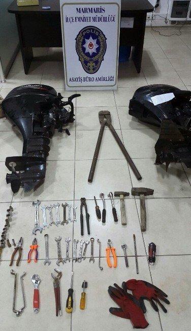 Muğla'da Tekne Motorlarını Çalan Hırsızlık Şebekesi Çökertildi