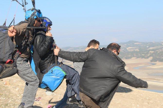 Engellilerin yamaç paraşütü heyecanı